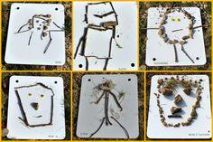 Land art MS - bonhommes et visages Land Art, Art Montessori, Kunst Der Aborigines, Theme Nature, Tree Study, School Portraits, Atelier D Art, Art Activities For Kids, Yarn Bombing