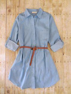 Sagelands Chambray Shirtdress