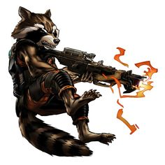 Marvel: Avengers Alliance: Rocket Racoon from the Guardians of the Galaxy New Uniform