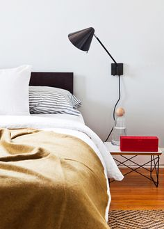 like the lamp and the simplicity of this bedroom.  Rent-Direct.com - The Place for NYC No Fee Apartments.
