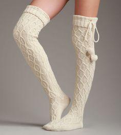 Sparkle Cable Knit Sock - Sparkle Cable Knit Sock