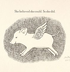 Items similar to She believed she could so she did Inspirational Quote Print Gift for Her Inspirational Print Flying Pig Print Pig Illustration Office Decor on Etsy Pig Drawing, Chicken Drawing, Drawing Tips, Small Wall Decor, Cute Office Decor, Pig Illustration, Pig Art, Flying Pig, Cute Pigs