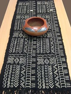 Mudcloth Table Runner #08 - Just Africa Art Gallery and Retail Shop - Buy Handcrafted Art and Gifts from a Reputable Art Dealer