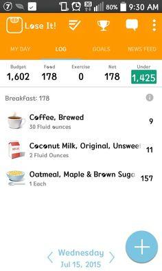 Day 9 Breakfast 178 Calories