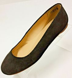 3bb9f89b35130 Lands End Womens Brown Size 10D Suede Leather Ballet Flats Slip On Shoes  385768  fashion  clothing  shoes  accessories  womensshoes  flats (ebay  link)