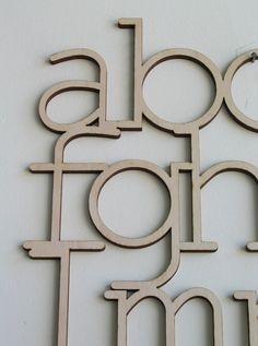 wooden alphabet wall hanging