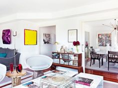 Visit a Madrid Apartment With Perfect Pops of Color via @domainehome