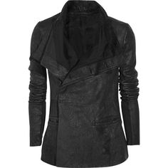 Rick Owens Distressed leather jacket and other apparel, accessories and trends. Browse and shop 21 related looks.