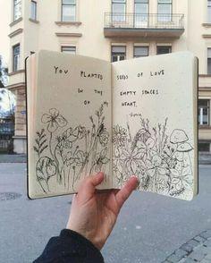 Art Journal Pages, Journal D'inspiration, Scrapbook Journal, Journal Ideas, Sketch Journal, Art On Book Pages, Drawing Journal, Doodle Art Journals, Artist Journal