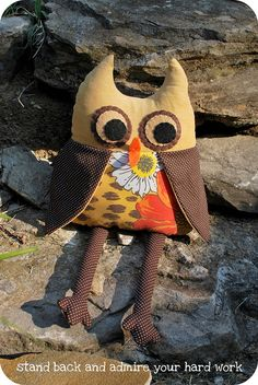 Hootie the upcycled owl tutorial