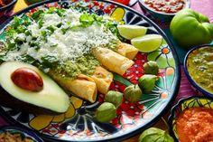 Mexican Green enchiladas