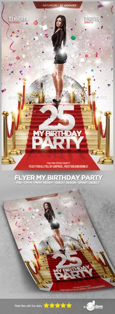 Flyer My Birthday Party - Events Flyers