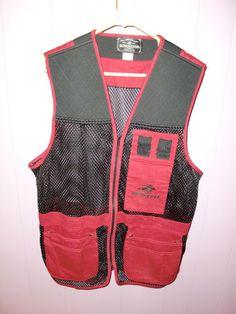 Winchester Mens Shooting Vest Sz Medium Left Right Shoulder Pad Trap Skeet | eBay