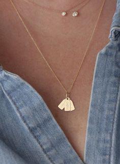 Custom tag necklace Hortense Jewelry