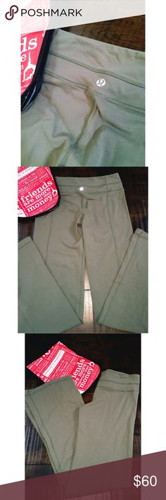 Army Green Lululemon Athletica Pants Sz 6-great condition lululemon athletica Pants