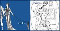 Η ελληνική μυθολογία είναι πηγή έμπνευσης, χαράς, γνώσης και «δεξαμενή» ανθρωπωνυμίων (αυτά που έχουμε συνηθίσει να αποκαλούμε ως βαπτιστικά) και για τους Έλληνες αλλά και για άλλους λαούς  του Ηρακλή Κακαβάνη #mythology #name #history #Greek http://fractalart.gr/polixeni-ke-ariadni-dio-kores-perivevlimenes-me-tin-achli-tou-mithou/