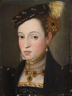 1563 Archduchess Magdalena by Giuseppe Arcimboldi