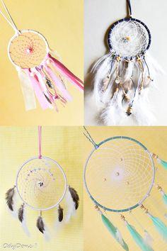 Attrape Rêve Dreamcatcher Fait Main Personnalisable **TAILLE et COULEURS** 1 Cercle 10 cm : Autres art par odydonc