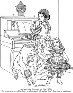 Victorian Fashions Coloring Book Welcome to Dover Publications