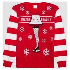 768e0fc347 Men's Warner Bros. A Christmas Story Ugly Holiday Light-Up Leg Lamp Sweater  -