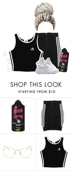 """""""didn't really take long to make this"""" by xtiairax ❤ liked on Polyvore featuring adidas and Ray-Ban"""