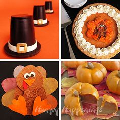 Thanksgiving Edible Crafts by @Hungry Happenings
