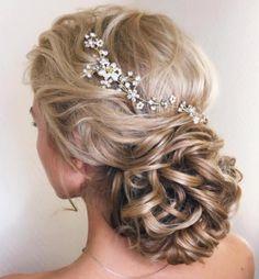 Wedding Hairstyles Medium Hair Wedding Low Loopy Bun For Long Hair - Simple Bridal Hairstyle, Wedding Hairstyles For Medium Hair, Long Hair Wedding Styles, Curly Wedding Hair, My Hairstyle, Wedding Hairstyles For Long Hair, Prom Hair, Bridal Hairstyles, Hairstyles Haircuts