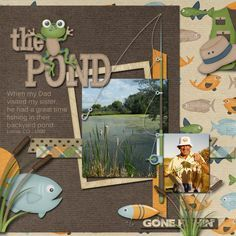 pond garden scrapbooking layouts - Google Search