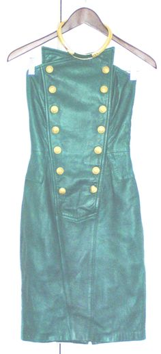 This was my emerald green North Beach Leather prom dress, circa 1988.