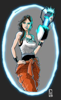 Portal, GLaDOS, Chelle, Video Game, Artwork, Fan Art Chell - Portal by FelipeAquino on DeviantArt
