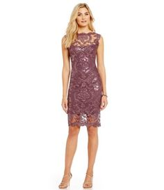 Shop for Tadashi Shoji Illusion Sequined Lace Cocktail Dress at Dillards.com. Visit Dillards.com to find clothing, accessories, shoes, cosmetics & more. The Style of Your Life.