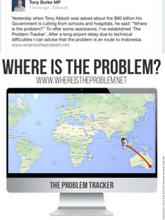 Tracking problem. #auspol