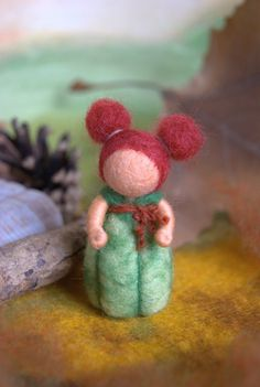 Little pumpkin baby - Waldorf inspired, needle felted, by Naturechild. $20.00, via Etsy.