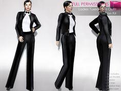 de71c67d77a Second Life Marketplace - Full Perm Rigged Mesh Ladies Tuxedo Outfit Set