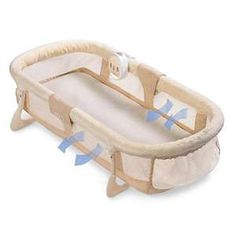 Summer Infant Rest Assured Sleeper...A great sleeper for newborns/infants with mesh sides and it vibrates...