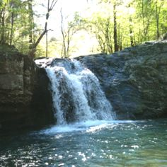 Falls at Lake Catherine State Park in Arkansas.