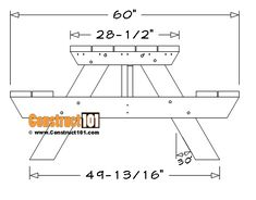 6 Foot Picnic Table Plans | DIY Projects - Construct101 Folding Picnic Table Plans, Diy Picnic Table, Do It Yourself Projects, Projects To Try, Patio Under Decks, Pocket Hole Screws, Diy Workshop, Outdoor Projects, Diy And Crafts