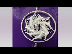 Atrapasueños Espiral Rellena - YouTube Dream Catcher Mandala, Dream Catcher Craft, Dream Catcher Tutorial, Romanian Lace, Dorset Buttons, Macrame Tutorial, String Art, Holidays And Events, Deco