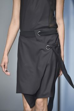 Industrialised detailing seen at @DamirDoma #SS15 collection. #PFW