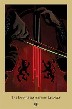 'The Rains of Castamere' (3x09) Víctimas: Viento Gris, Catelyn Stark (Michelle Fairley), Robb Stark (Richard Madden) y Talisa (Oona Chaplin).