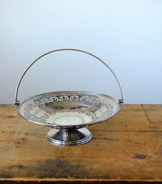 Vintage silver plated fruit or candy stand Antique Items, Vintage Items, Candy Stand, Candy Bowl, Cut Out Design, Vintage Silver, Silver Plate, Fruit, Antiques