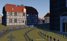 3d Rekonstruktion des Solinger Fronhof.