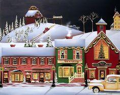 Christmas in Holly Ridge Painting - Christmas in Holly Ridge Fine Art Print - Catherine Holman
