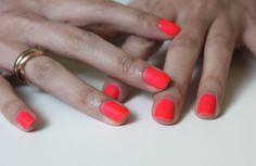 the matte neon manicure