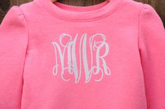 A personal favorite from my Etsy shop https://www.etsy.com/listing/267140379/35-iron-on-vinyl-heat-transfer-monogram