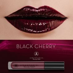 Black Cherry Lip Gloss on the lips. #AnastasiaBeverlyHills