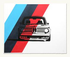 Stenciled Wheels: Hand-Painted Car Posters