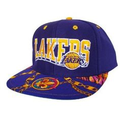 20e1a68e198 LOS ANGELES LAKERS Wave Snapback Hat - NBA Hat - Custom Snapback with  Unique Swag Fabric