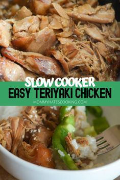 Make this AMAZING Ninja Foodi Teriyaki Chicken using the slow cooker function of the Ninja Foodi. This is an easy recipe and great meal to make during the week, served over a bowl of rice and veggies! Raw Food Recipes, Easy Dinner Recipes, Cooking Recipes, Healthy Recipes, Drink Recipes, Cooking Tips, Dinner Ideas, Slow Cooker Recipes, Crockpot Recipes