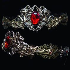 """~ New """"Dragon Blood"""" Crown ~ available here Royal Crowns, Tiaras And Crowns, Dragons Crown, Lip Makeup Tutorial, Tattoos For Women Half Sleeve, Dragon Jewelry, Crystal Crown, Mineral Stone, Fantasy Jewelry"""